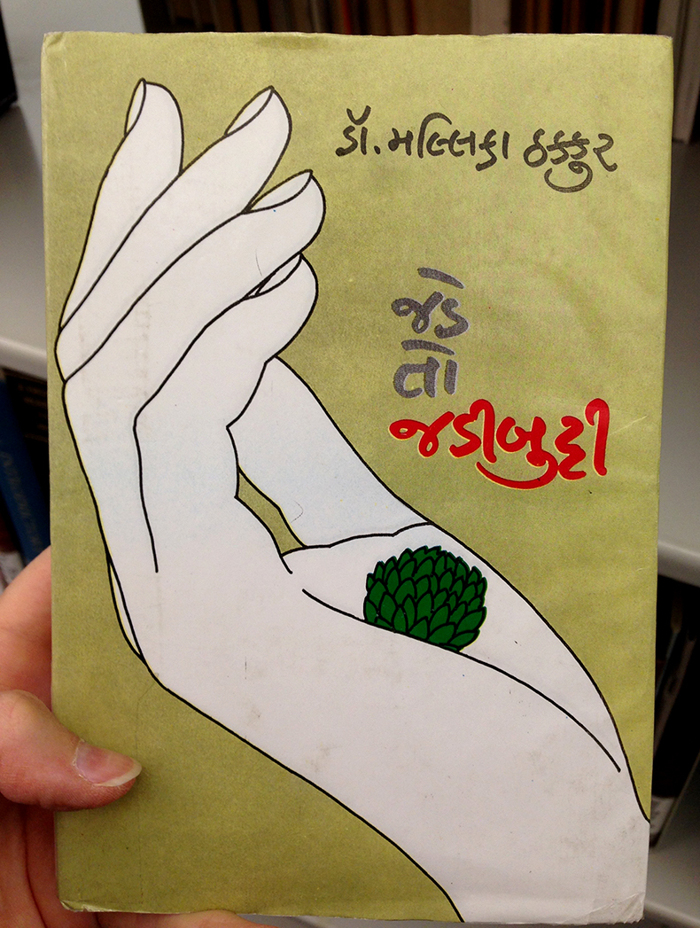 Gurmukhi handwriting book cover
