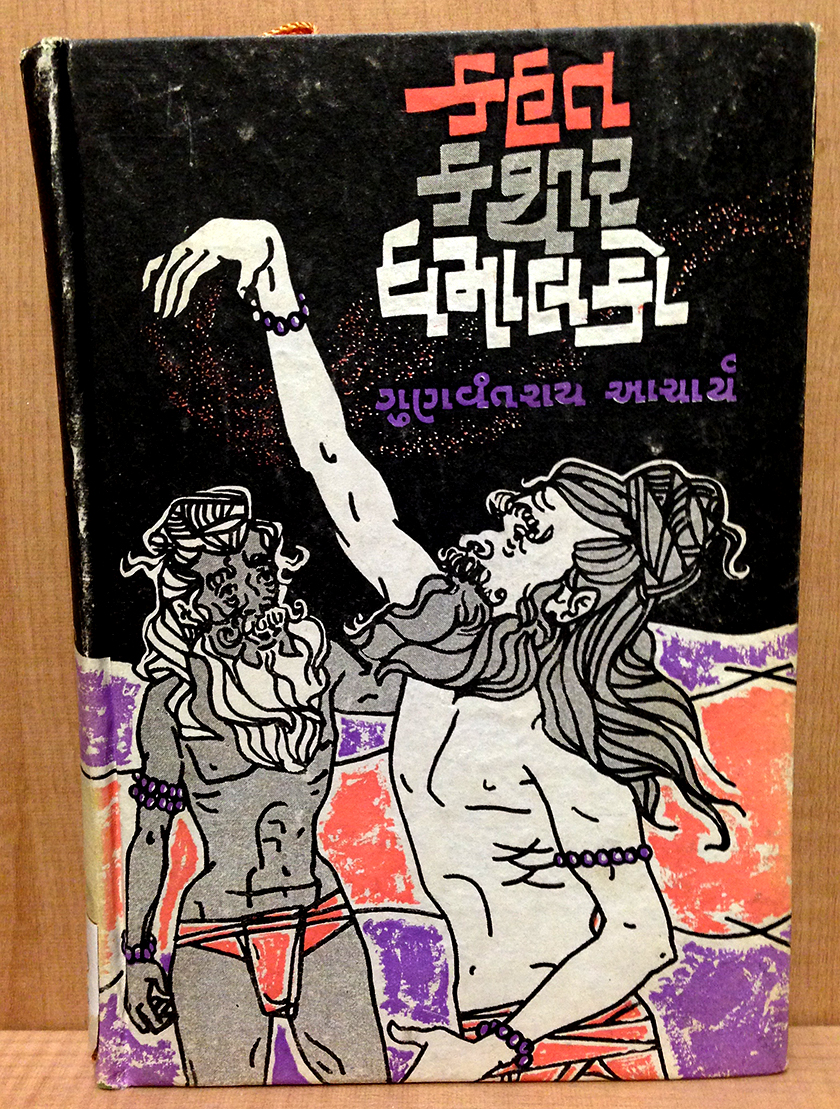 Gujarati book cover lettering